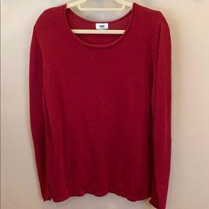 Never been worn. Dark red old Navy sweater. XXL